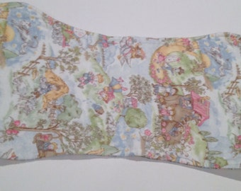 Handmade Flannel Baby Burp Cloths- Girl Styles- nursery rhyme fabric