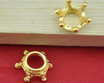 20pcs Gold plated water crown charms and pendants ----6x13mm--G1368
