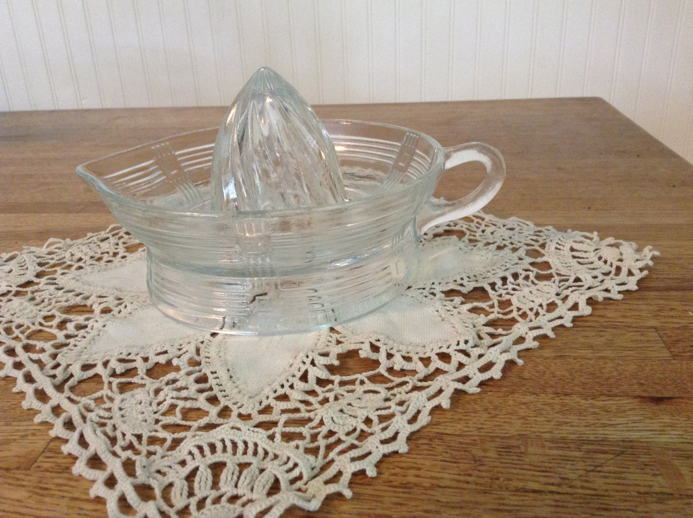 Glass Citrus Juicer Electric ~ Vintage glass citrus juicer by silviasattic on etsy