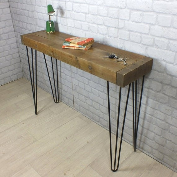 Hairpin legs vintage industrial reclaimed by for Vintage hairpin table legs