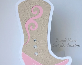 Cowgirl Boot Invitations, Birthday Invitations, Bridal Shower Invitations, Cowboy, party, Country, Western Invitations!