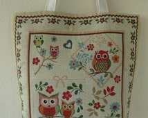 Owl Tote Bag, iPod Tote, Beach Bags Totes, Red Hand Bag, Great Gifts for Birthday.