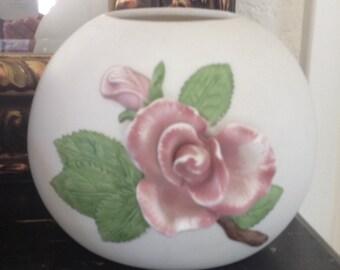 Vintage Cottage Chic Shabby Chic Rose Vase Planter