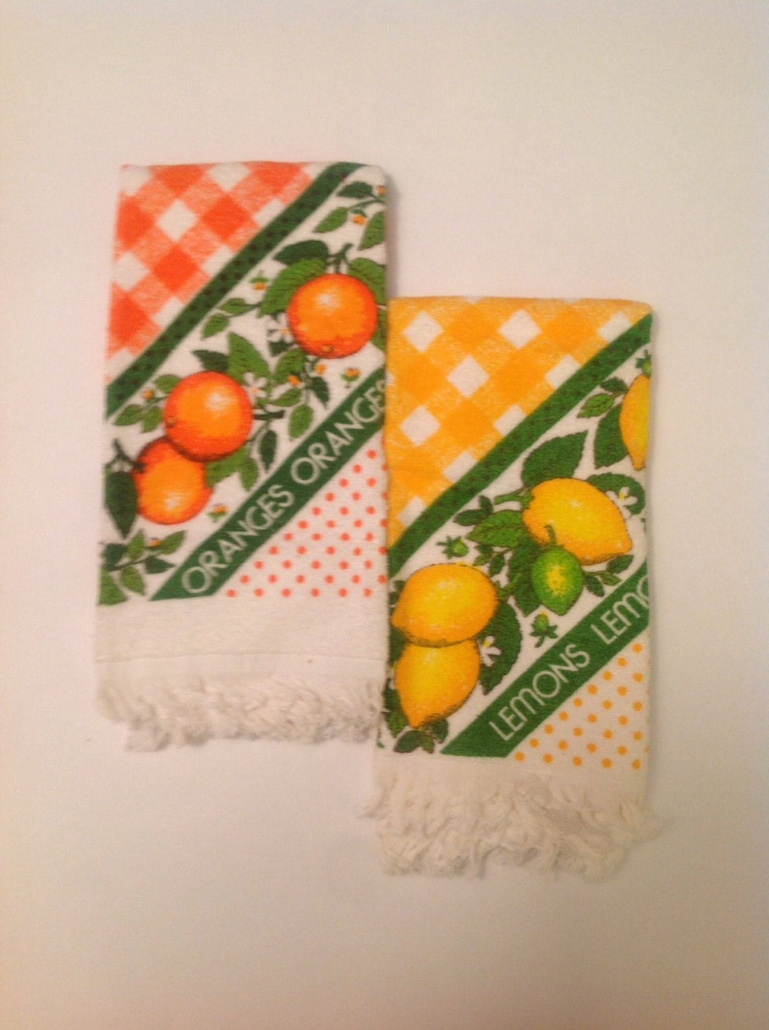 Vintage terrycloth kitchen towels terry cloth 1970s retro
