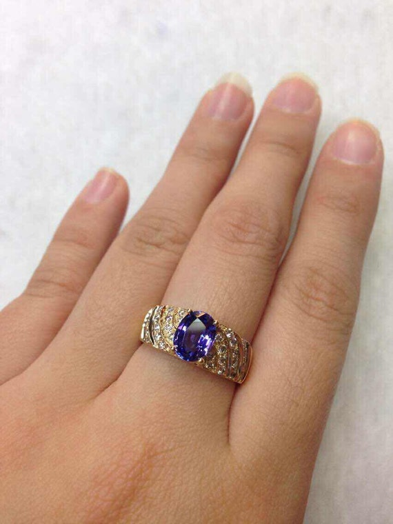 Tanzanite Engagement Ring 1.38 Carat by JewelryInfinityToday