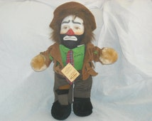 """SALE! 10 OFF!Emmett Kelly Jr. Plush """"The Clown""""/Autographed by Emmett Kelly Jr./1990/20 inches tall/with tags/famous clown collection"""