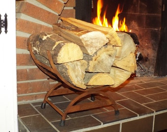 Log Holder in Authentic finish