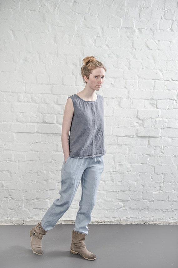 Amazing Eva Tralala Gray HighWaist Linen Pants  Zulily