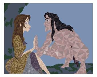 """8""""x10"""" Tarzan Polygon Print"""