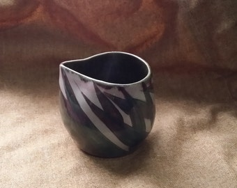 OOAK Small Pitcher With Carved Leaves