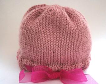 Ribbon Trimmed Hat for Baby/Infant