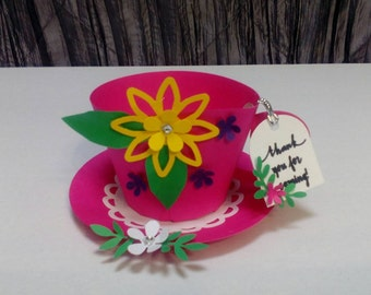 10 PC tea party favor,paper tea cup.
