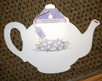 Beautiful Tea Pot Invitation