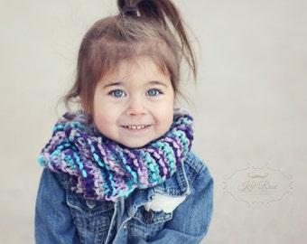 Pink/Purple/Aqua Toddler Infinity Scarf/christmas/winter/kids/girls/fashion/fall/handmade