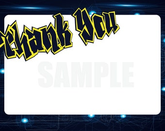 Laser Birthday Party Thank You Card