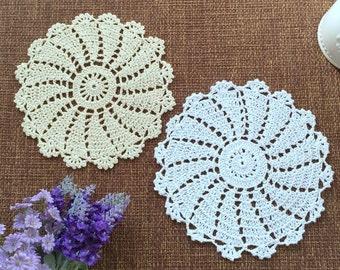 12 pcs/set, Wedding doilies, hand crochet doilies for wedding, crochet coaster, centerpieces for weddings