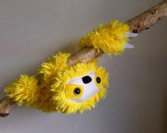 Sloth plush yellow