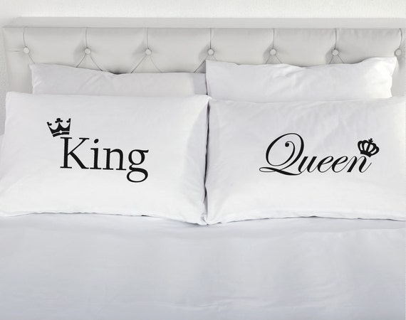 King and queen crowns pair pillowcases printed pillow case for Dreamfinity king size pillow
