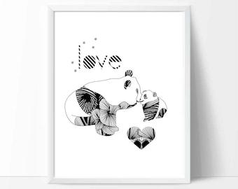 Digital Download art, mother's day gift, printable wall art, downloadable print, baby birthday gifts, nursery decor, kids playroom