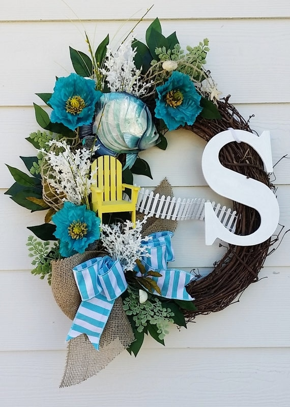 Do It Yourself Home Design: Beach Wreath Tropical Seascape Wreath. By TheChicyShackWreaths