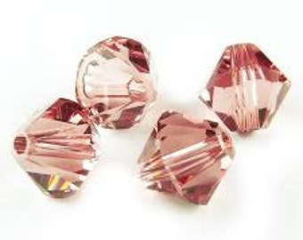 Swarovski 4mm Bicone - Blush Rose - Pack 20
