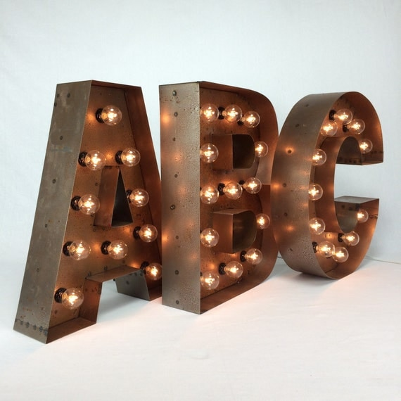Custom steel marquee letter 18 quot light up letter marquee sign