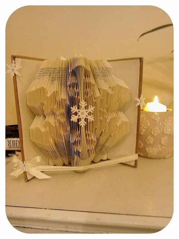 Book Cover Pattern Generator ~ Snowflake book art pattern free maker by bookartco