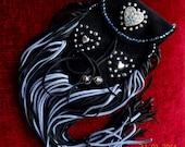 Cowgirl Chic/Boho Gypsy/Tribal/Southwestern Genuine Suede Leather Heart Theme Fringe Belt/Medicine Purse