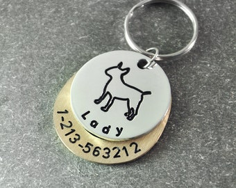 Free shipping  - Personalized dog tag - custom  dog tag - Identification Tag  - dog ID tags  -  Pit Bull Terrier  dog  tag