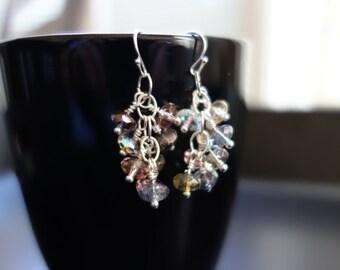 Pastel Cluster Earrings