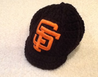 San Francisco GIANTS Newborn Crochet Baseball Cap - Photographer Prop