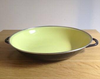 Turkish Enameled Pan with Handles