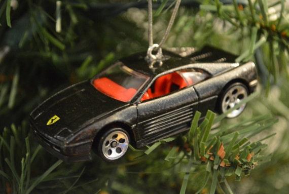 Hot wheels ferrari 348 ornament ornament made w hot for Ferrari christmas