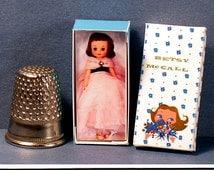 Betsy McCall Doll Box  -  Dollhouse Miniature - 1:12 scale - Dollhouse Accessory - 1950s retro Dollhouse girl nursery toy