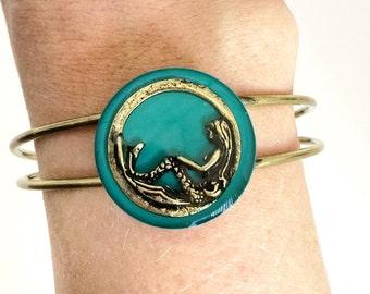 Mermaid jewelry / nautical jewelry / mermaid bracelet / siren jewelry / bangle bracelet / beach ocean jewelry