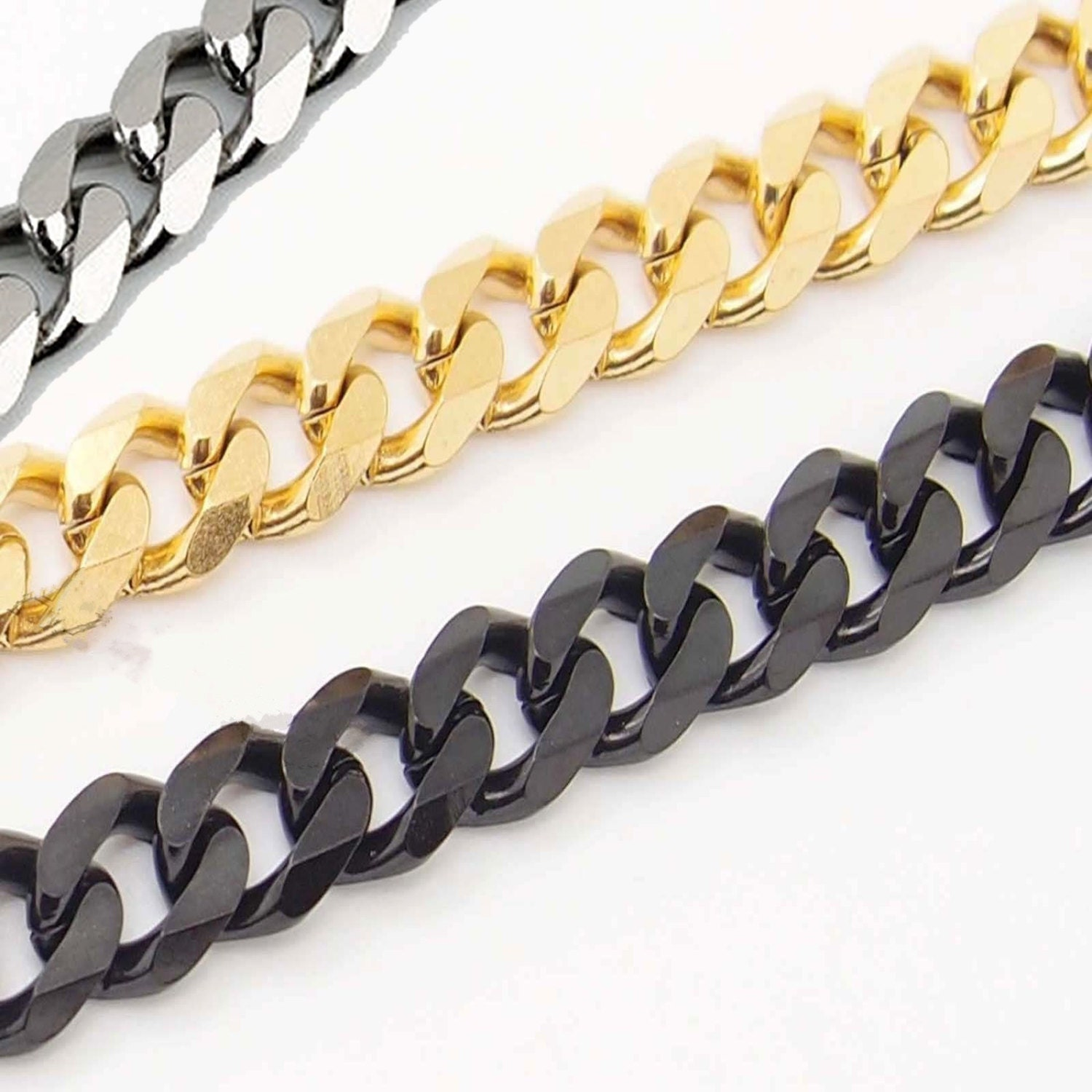 7mm 7 36 39 39 mens chain boys curb cuban link stainless for Do pawn shops buy stainless steel jewelry