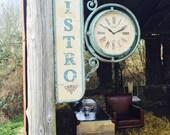 Handmade Cast Iron Vintage station bistro wall clock