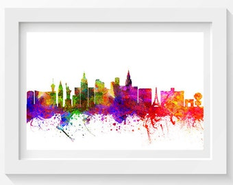 Las Vegas Nevada In Color Poster, Home Decor, Gift Idea 02