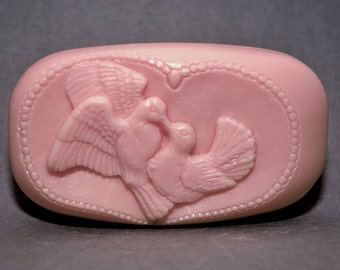 DOVES - WEDDING Silicone mold - soap, soap bar silicone mould  plaster clay wax resin