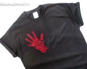 New PEAKY BLINDERS Inspired T Shirt Tee Shirt Top  Mens ~ 'The Red Right Hand' ~ 100% Cotton