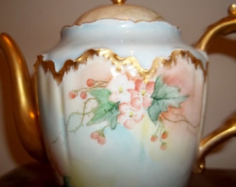 Vintage Haviland Teapot -Tea Pot - Hand-painted - MINT