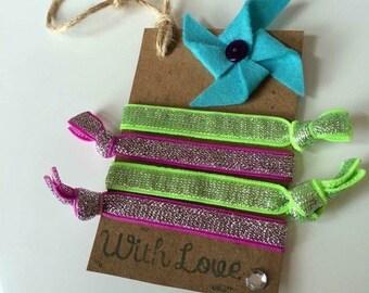 Elastic hair bands - hair ties - bobbles