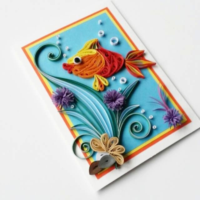 Fish birthday card gangcraft fish birthday card etsy birthday card bookmarktalkfo Image collections