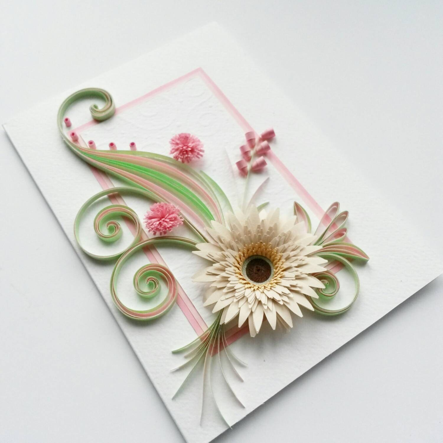 Quilled Birthday Card Greeting Card Mother's Day Card