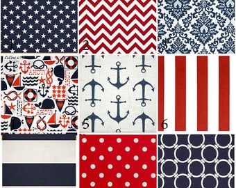 Custom 2 or 3 piece Crib Bedding - Red, White, Blue Patriotic