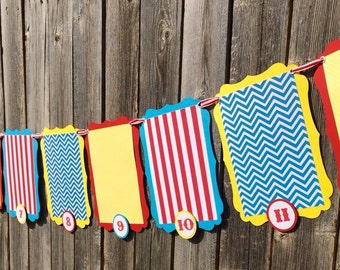 Circus Birthday Photo Banner, First Year Photo Banner, 12 Month Picture Banner