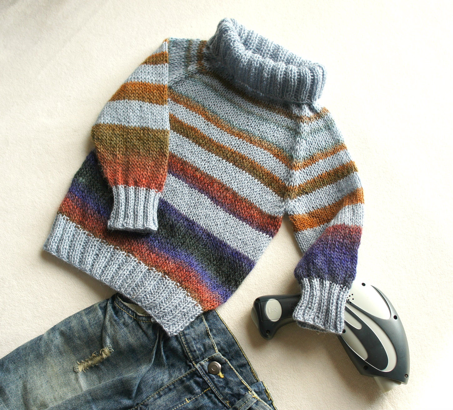Knitting Pattern For Tortoise Jumper : boys winter sweater turtle neckHand knit boy sweater wool