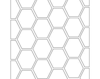 Honeycombe  SVG Cutting Pattern - For printing, stencils, cutting and material printing