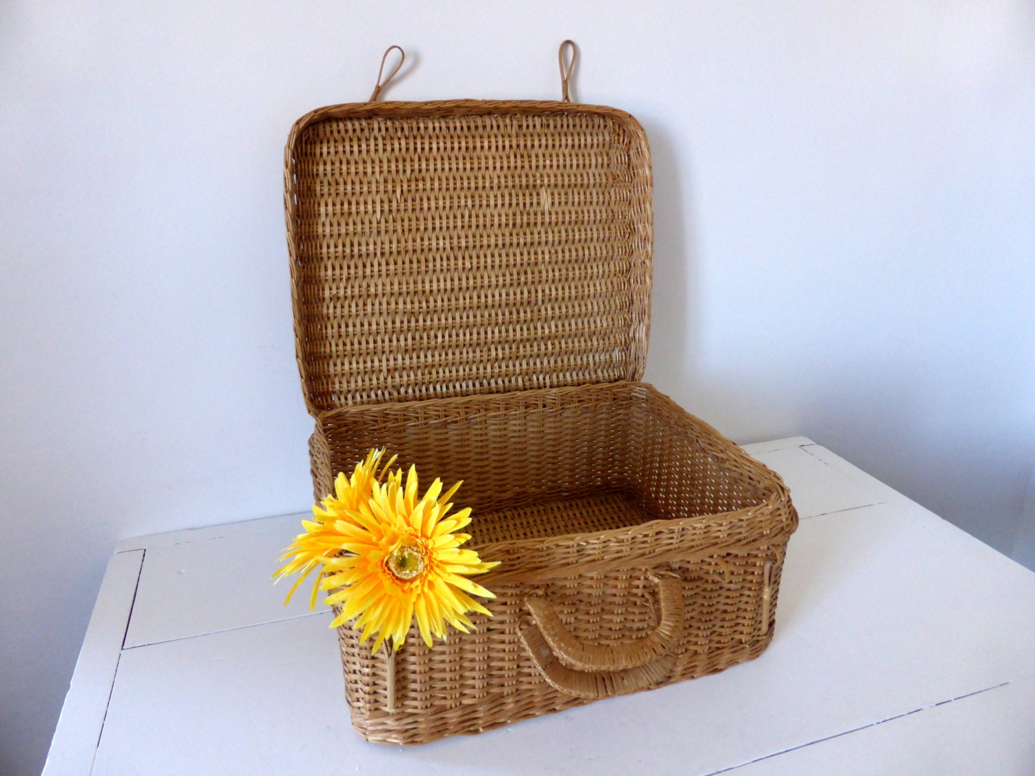 vintage french picnic basket. Black Bedroom Furniture Sets. Home Design Ideas