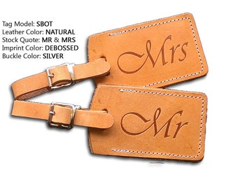 Pair of Mr and Mrs Wedding Tags